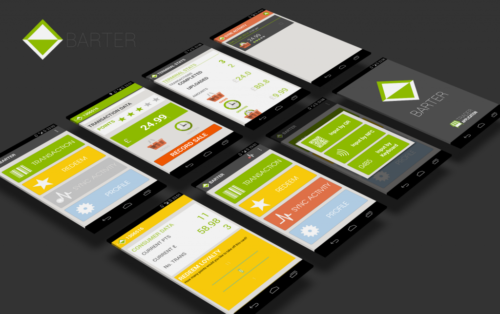 BARTER mobile app walkthrough